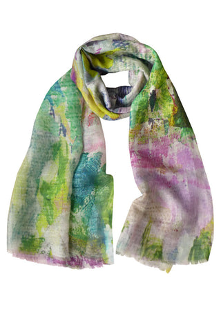 Abstract Garden - (Linen/Cashmere) Scarf