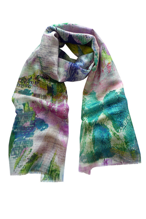 Pazuki | SS17 | Abstract Garden | Linen/Cotton Printed Scarf