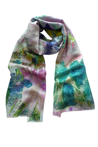 Abstract Garden - (Linen/Cotton) Scarf