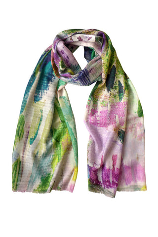 Abstract Garden - (Modal/Cashmere) Scarf