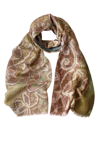 Antique Lace - (Linen/Cashmere) Scarf