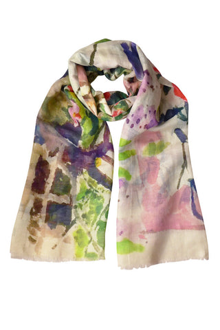 Camellia Wall - (Linen/Cotton) Scarf