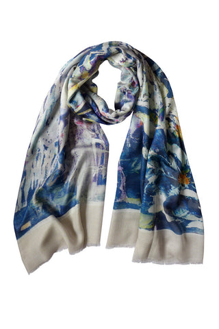 Clematis Navy - (Cotton/Silk/Cashmere) Scarf