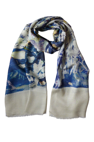 Clematis Navy - (Modal/Cashmere) Scarf