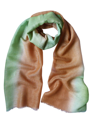 Colour Therapy Teal Terracotta - (Linen/Cashmere) Scarf
