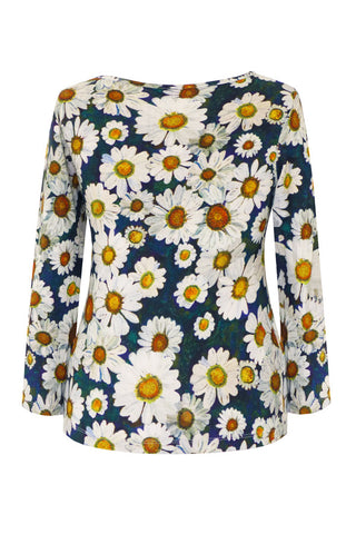 Daisies - Cotton Jersey Long Sleeve Top