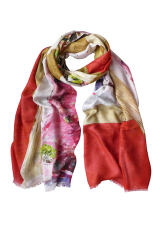 Garden Painting - (Modal/Cashmere) Scarf