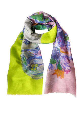 Jug of Flowers - (Linen/Cashmere) Scarf