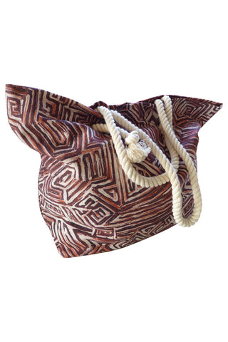 Maze - Cotton Beach Bag