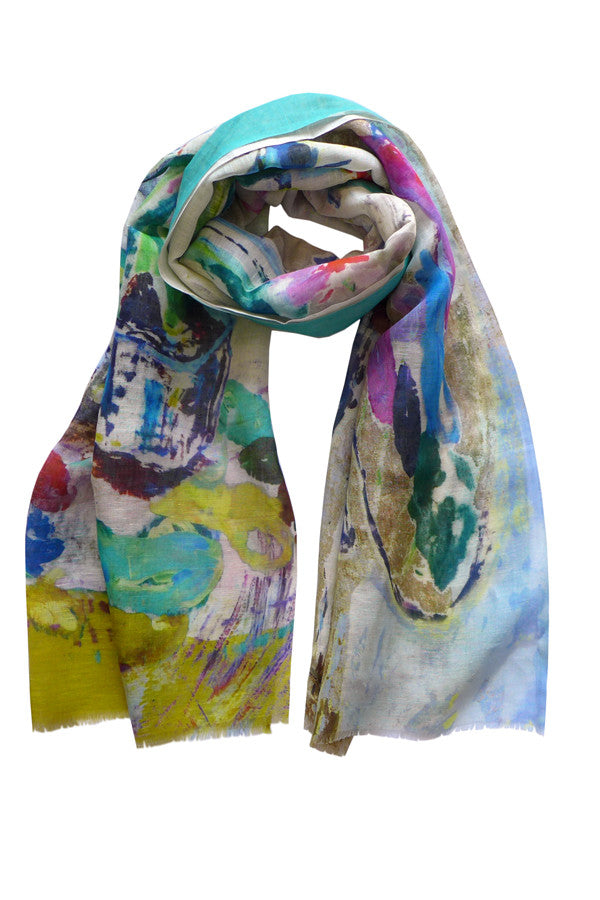 Pazuki | SS17 | Painting School | Linen/Cotton Printed Scarf
