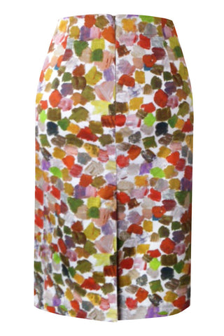 Splash - Stretch Cotton Pencil Skirt