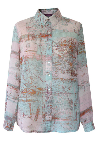 Treehouse - Silk Georgette Fly Front Shirt