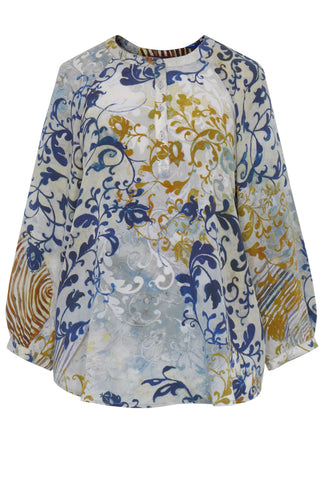 Arabesque - Crepe de Chine Tunic Shirt