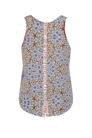 Beaded Embroidery Corsage - Crepe and Silk Georgette Patchwork Vest