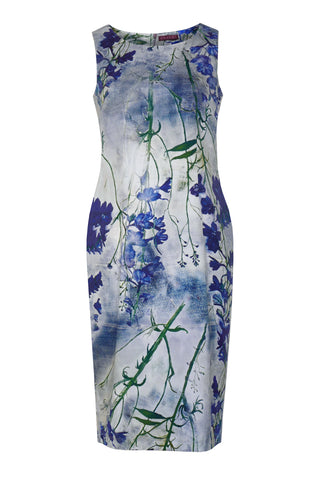 Delphinium Blue - Stretch Cotton Dress