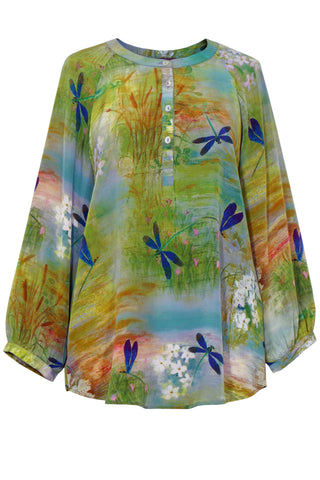 Dragonfly - Crepe de Chine Tunic Shirt
