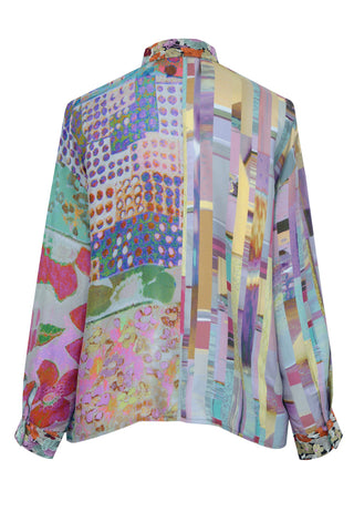 Home Sweet Home Patchwork - Crepe de Chine Shirt