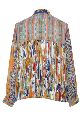 Living Wall Patchwork - Crepe de Chine Shirt