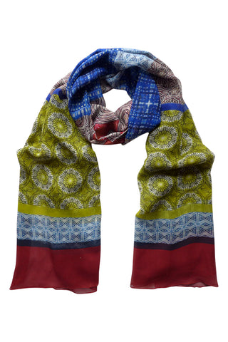 Symmetry in Motion - (Silk Chiffon) Tubular Scarf