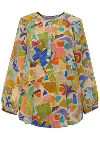 Village - Crepe de Chine Tunic Shirt