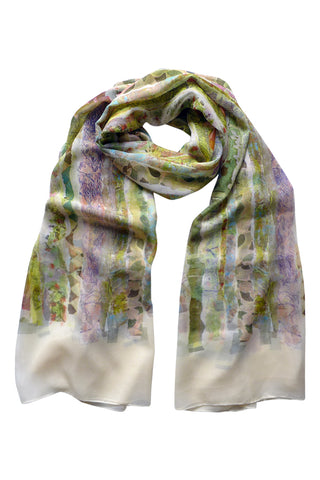Wallpaper Pink - (Silk Chiffon) Tubular Scarf