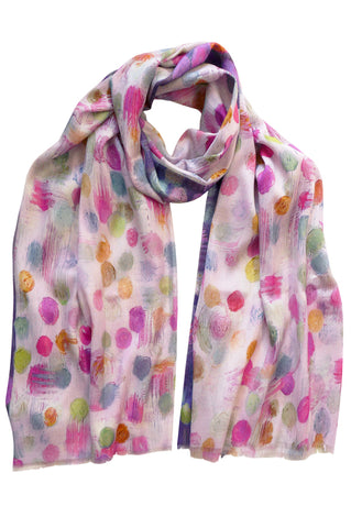 Bubble Pink - (Cotton/Silk) Scarf