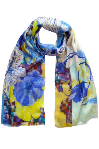 Chelsea Blue - (Cotton/Silk/Cashmere) Scarf