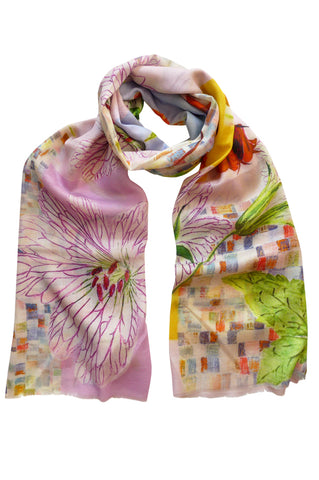 Chelsea Pink - (Cotton/Silk/Cashmere) Scarf
