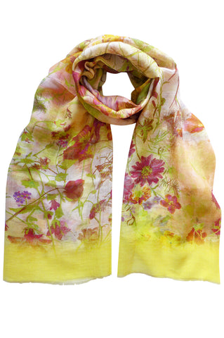 Damask Rose Gold - (Linen/Cotton) Scarf