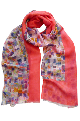 High Rise Red - (Linen/Cotton) Scarf