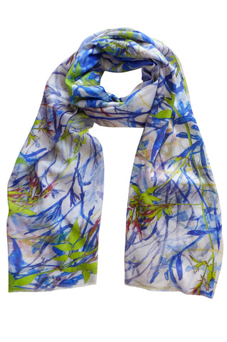Jasmine Tangle - (Cotton/Silk) Scarf