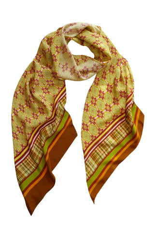 Lozenge - Long Narrow Bias Silk Scarf