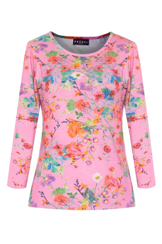Floris Pink - Jersey Long Sleeve Top