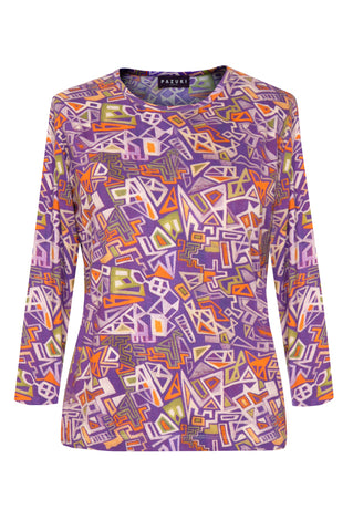 Mekkano Purple - Jersey Long Sleeve Top