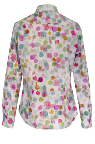 Bubbles Pink - Cotton Fitted Shirt
