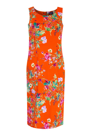 Floris Orange - Stretch Cotton Dress