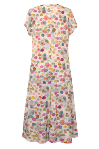 Bubbles Pink - Long Dress with Pockets