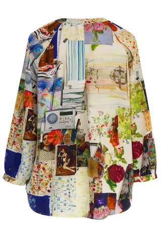 Pin Board - Crepe de Chine Tunic Shirt