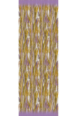 Wheat Olive Lilac - (Cotton/Silk/Cashmere) Scarf