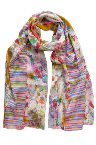 Splatter Multi - (Cotton/Silk) Scarf