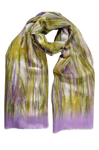 Wheat Lilac - (Linen/Cotton) Scarf