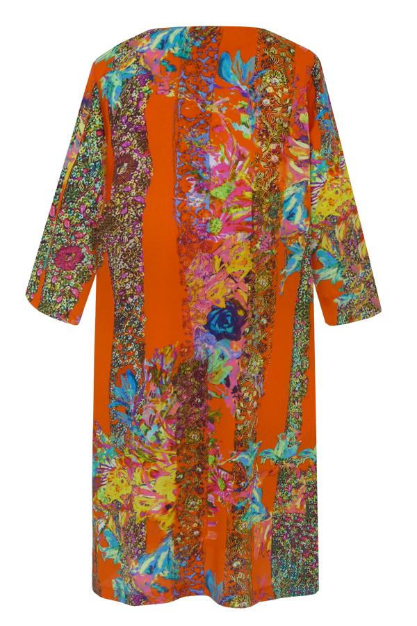 Pazuki | SS20 | Athena Trellis Orange Tunic Dress