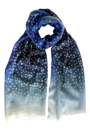 Pazuki | SS20 | Twinkle Blue Boiled Cashmere Scarf