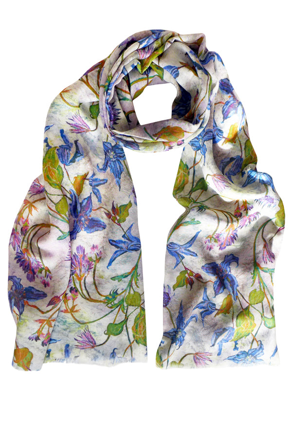 Clematis Marble 100% Cotton Scarf