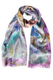 Pazuki | SS20 | Paisley Scribble Techno 100% Cotton Scarf