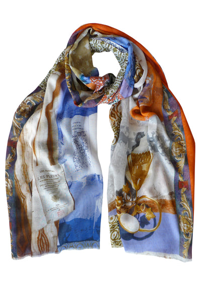 Pazuki | SS20 | Perfume Orange Blue 100% Cotton Scarf