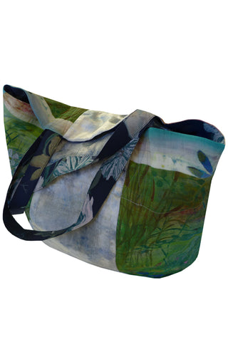 Dragonfly & Landscape - Patchwork Shopper Bag