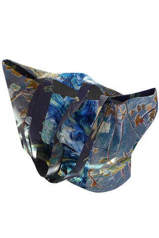 Twigs & Anemone Blue - Patchwork Shopper Bag
