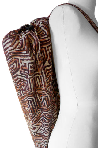 Maze Terracotta - Printed Yoga Bag