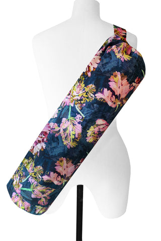 Tulips Navy - Printed Yoga Bag
